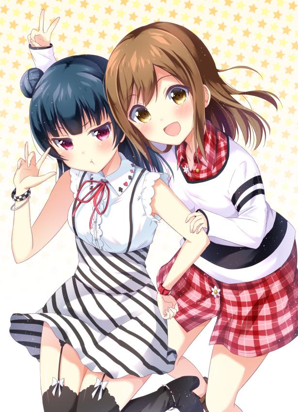 Tags: Anime, Mirai (Macharge), Love Live! Sunshine!!, Kunikida Hanamaru, Tsushima Yoshiko, Mobile Wallpaper, YohaMaru