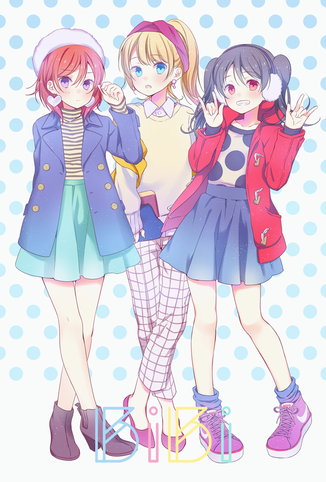 Tags: Anime, Wogura, Love Live!, Ayase Eri, Yazawa Niko, Nishikino Maki, PNG Conversion, Pixiv, Mobile Wallpaper, Fanart, Fanart From Pixiv, BiBi (Love Live!)