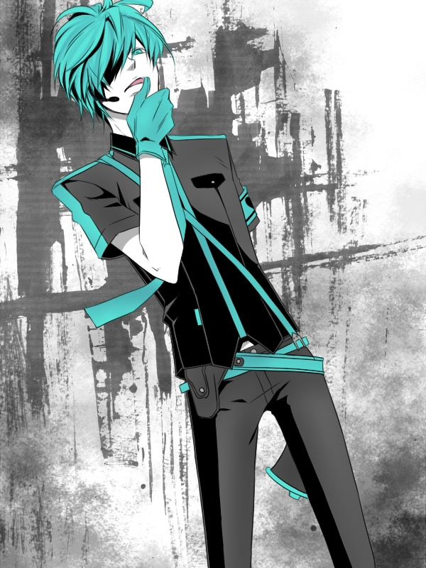 Tags: Anime, Pixiv Id 706651, VOCALOID, Hatsune Mikuo, Licking Finger Tip, Love is War