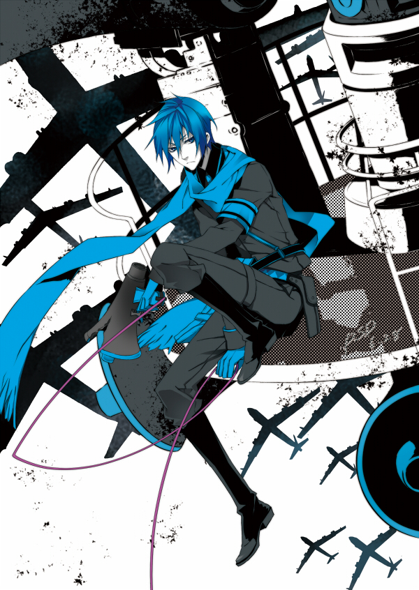 Tags: Anime, PSD, VOCALOID, KAITO, Fanart, Pixiv, Love is War, Mobile Wallpaper