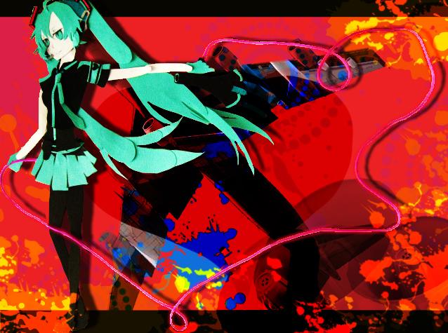 Tags: Anime, VOCALOID, Hatsune Miku, Fanart, Love is War