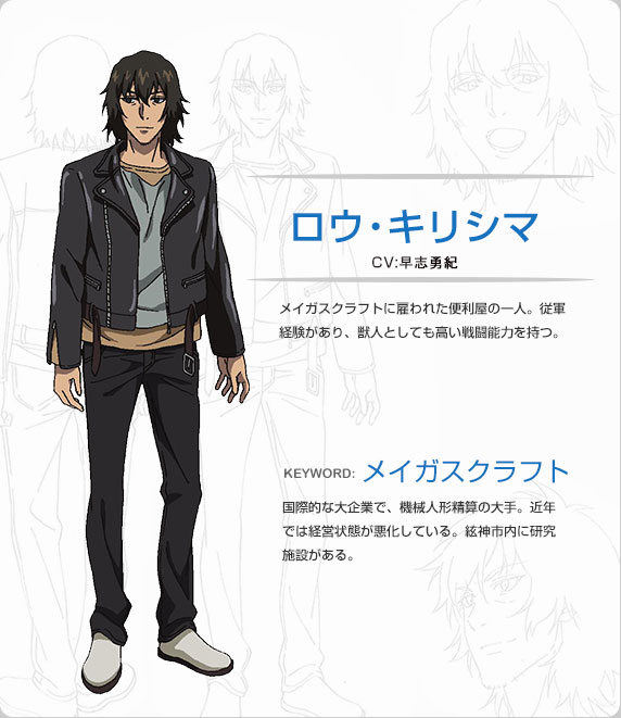 Anime Characters Jacket : Lowe kirishima strike the blood image
