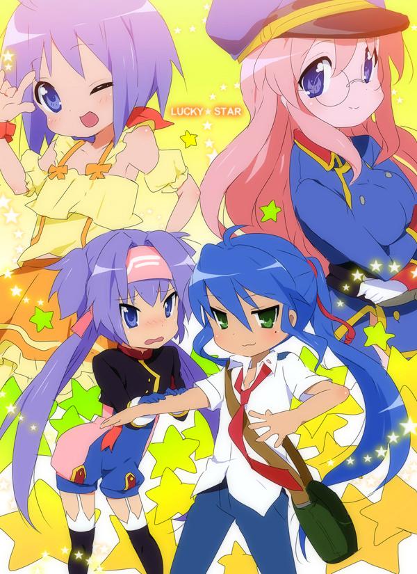Tags: Anime, KL, Lucky☆Star, Takara Miyuki, Hiiragi Tsukasa, Hiiragi Kagami, Izumi Konata, Sheryl Nome (Cosplay), Saotome Alto (Cosplay), Ranka Lee (Cosplay), Macross Frontier (Parody), Klan Klang (Cosplay), deviantART