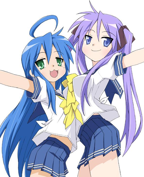 Tags: Anime, Eunos, Lucky☆Star, Hiiragi Kagami, Izumi Konata, Fanart