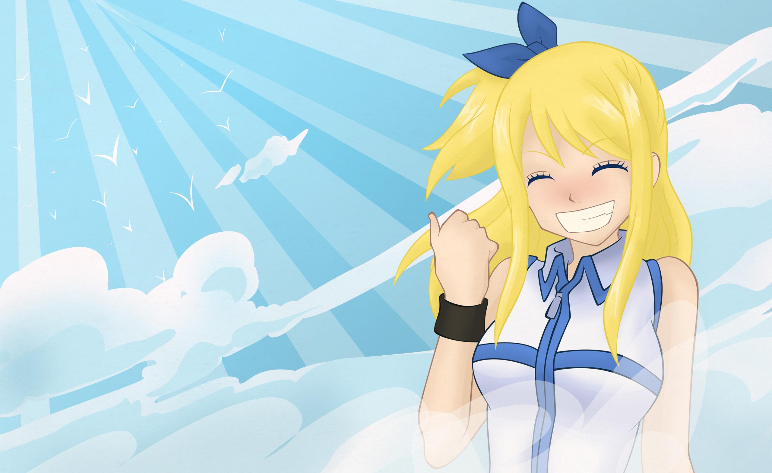 Tags Anime Mashima Hiro FAIRY TAIL Lucy Heartfilia Thumbs Up