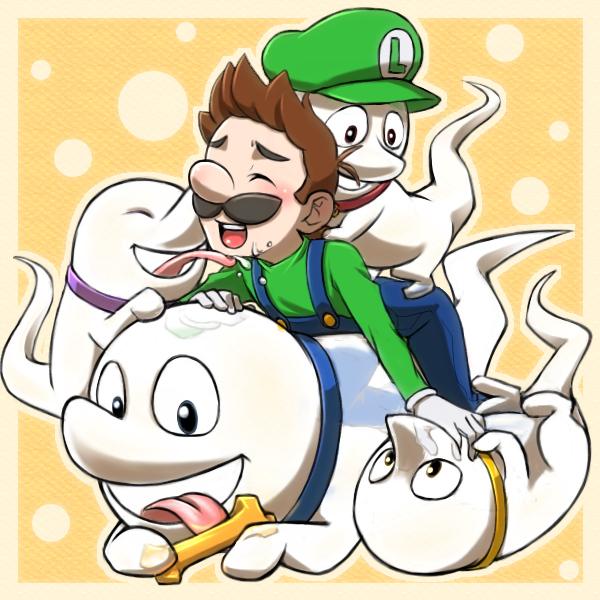 Tags: Anime, Pixiv Id 755408, Super Mario Bros., Luigi's Mansion, Luigi