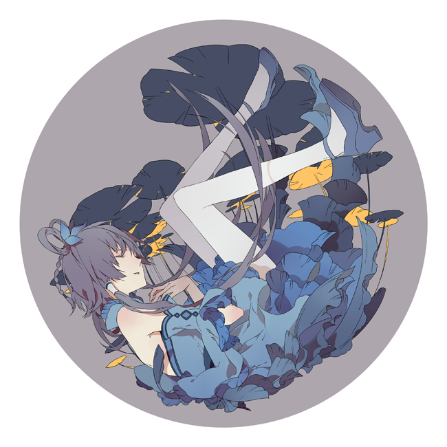 Tags: Anime, Mouseqi, VOCALOID, Luo Tianyi, Lily Pads, Pixiv