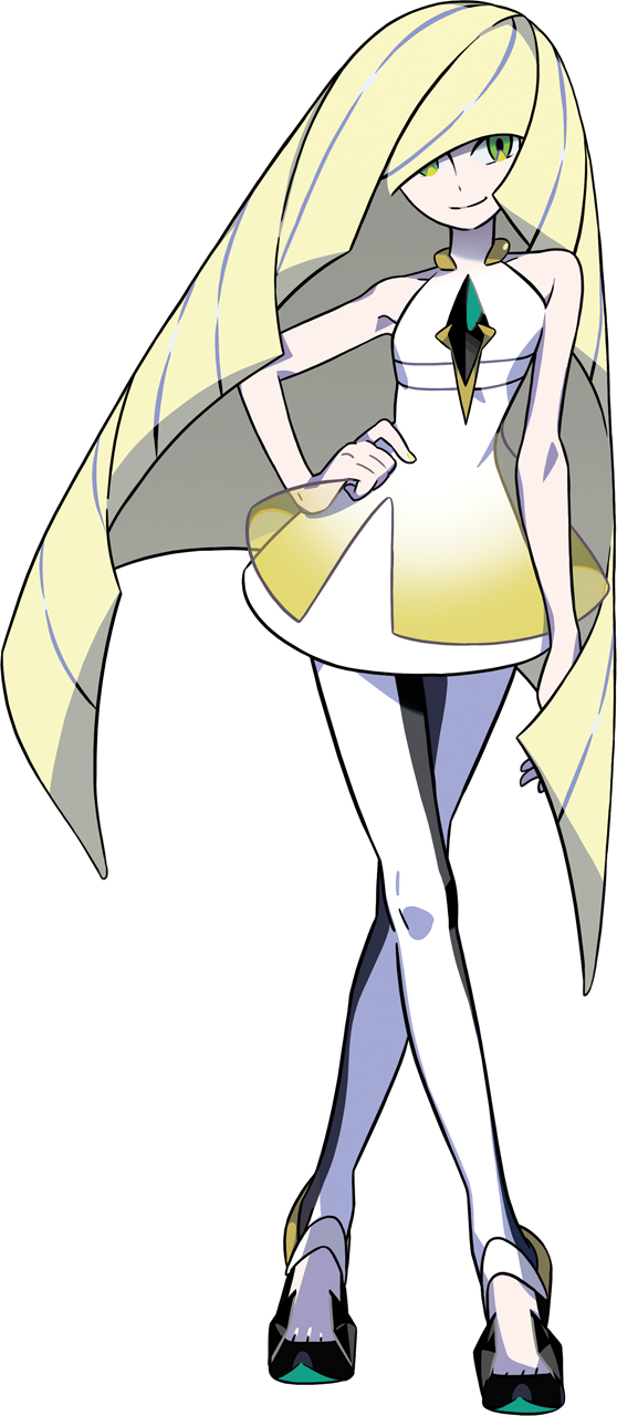 Tags: Anime, Oomura Yusuke, GAME FREAK, Nintendo, Pokémon Sun & Moon, Pokémon, Lusamine, Official Art, Cover Image, PNG Conversion