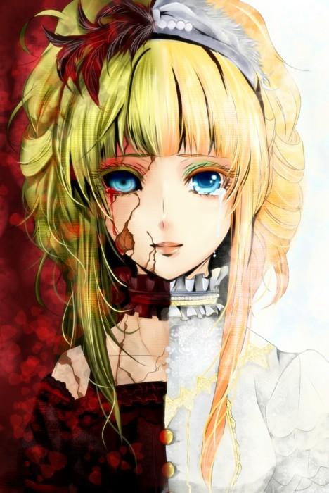 Tags: Anime, Chierieee, Elisabeth von Wettin, Elise (Sound Horizon), Blood Tears, Fanart, Mobile Wallpaper, Märchen, Pixiv, Sound Horizon