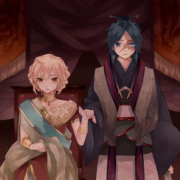 Tags: Anime, Himeno (Pixiv4404324), MAGI: The Labyrinth of Magic, Ren Hakuryuu, Ali Baba Saluja, Pixiv, Fanart, Fanart From Pixiv, The Labyrinth Of Magic Magi