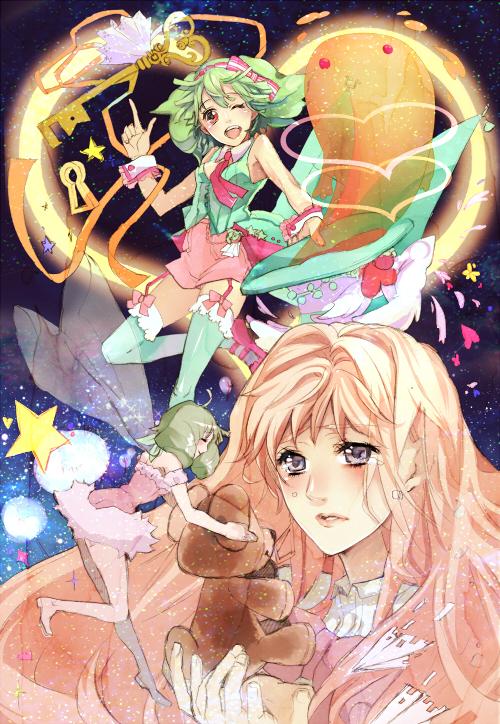 Tags: Anime, Katsu Ryouji, Macross Frontier, Sheryl Nome, Ranka Lee, Niji Iro Kuma Kuma, Fanart, Pixiv