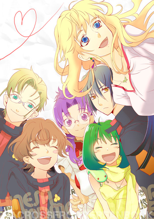 Tags: Anime, Macross Frontier, Saotome Alto, Sheryl Nome, Matsuura Nanase, Ranka Lee, Luca Angelloni, Mikhail Blanc