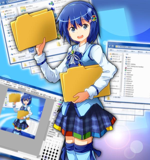 Tags: Anime, Tksymkw, Madobe Nanami, Recursion, Folder, Pixiv, OS-tan