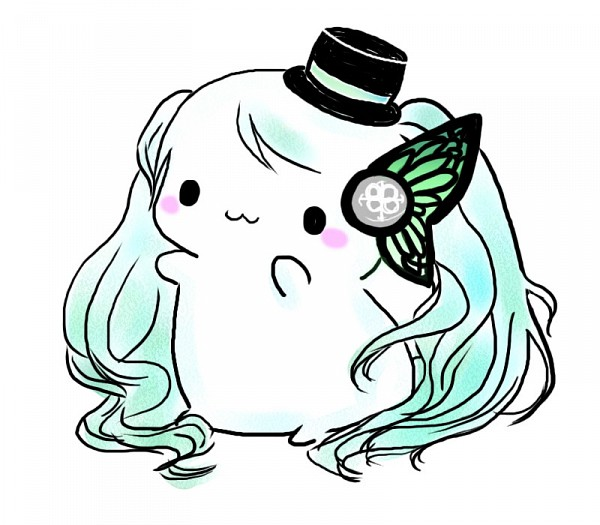 Tags: Anime, Siratamairipafe, VOCALOID, Hatsune Miku, Mini Top Hat, Butterfly Wings, :3