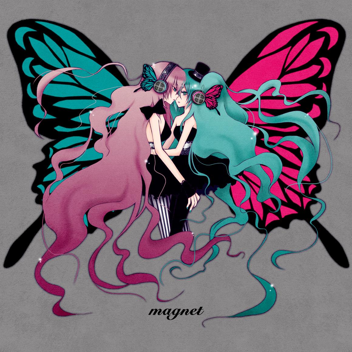 megurine luka and hatsune miku kiss wwwimgkidcom the