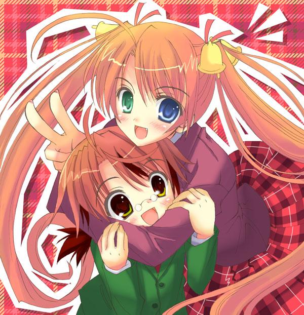 Tags: Anime, Mahou Sensei Negima!, Negi Springfield, Kagurazaka Asuna, Fanart, Artist Request, Magical Teacher Negima!