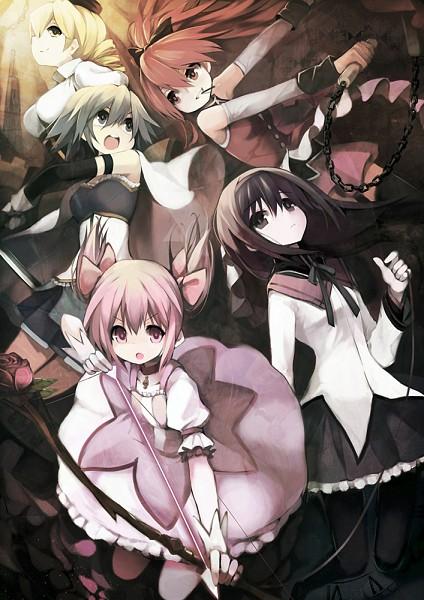 Tags: Anime, Sea (Lordofk), Mahou Shoujo Madoka☆Magica, Akemi Homura, Sakura Kyouko, Tomoe Mami, Miki Sayaka