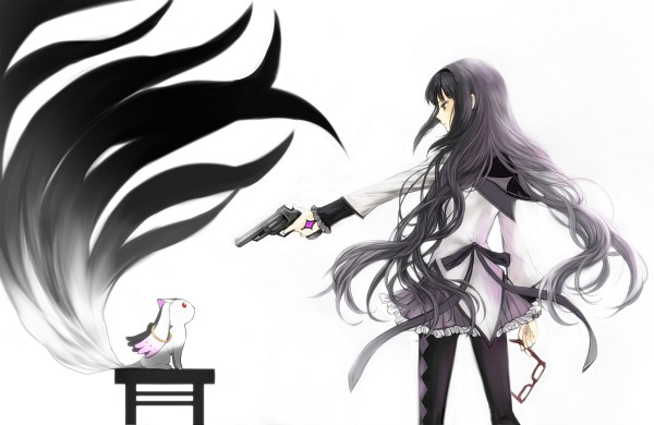 Tags: Anime, Nanamura, Mahou Shoujo Madoka☆Magica, Akemi Homura, Kyubee