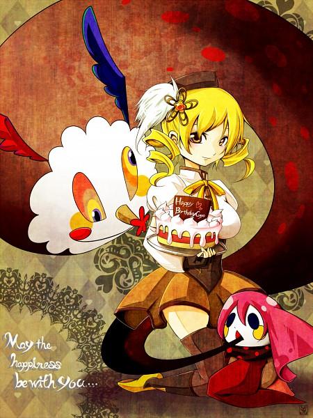 ... , Charlotte (Madoka Magica), Tomoe Mami, Multi-colored Eyes, Cake