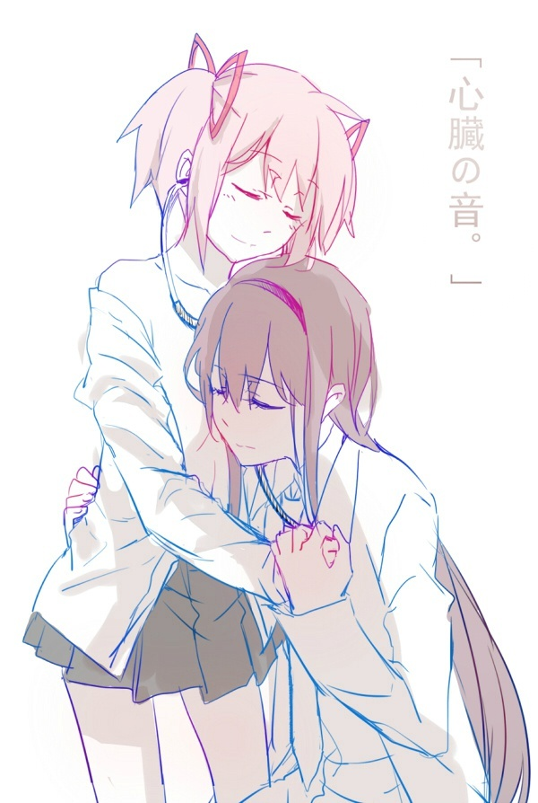 Tags: Anime, Pixiv Id 2214043, Mahou Shoujo Madoka☆Magica, Akemi Homura, Kaname Madoka, Magical Girl Madoka Magica