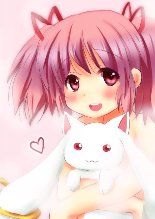 Tags: Anime, Torotoro, Mahou Shoujo Madoka☆Magica, Kaname Madoka, Kyubee