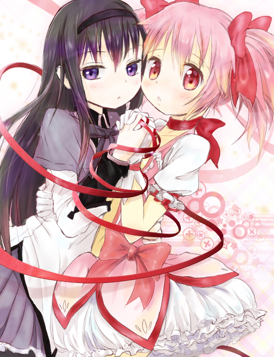 Tags: Anime, Komeya (Yo2mo2mo), Mahou Shoujo Madoka☆Magica, Akemi Homura, Kaname Madoka
