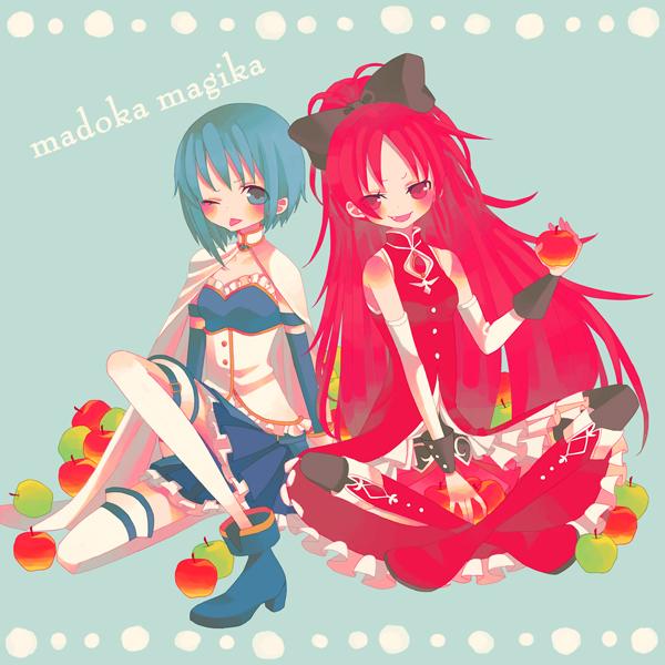 Tags: Anime, Bitikara, Mahou Shoujo Madoka☆Magica, Miki Sayaka, Sakura Kyouko