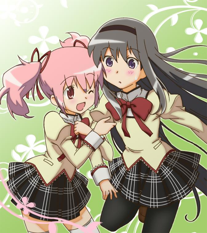 Tags: Anime, Omotyanoneko, Mahou Shoujo Madoka☆Magica, Kaname Madoka, Akemi Homura