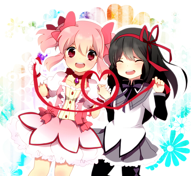 Tags: Anime, Mapiru, Mahou Shoujo Madoka☆Magica, Kaname Madoka, Akemi Homura