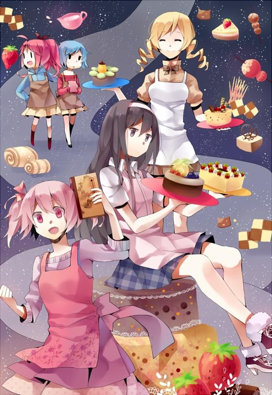 Tags: Anime, Tang Elen, Mahou Shoujo Madoka☆Magica, Miki Sayaka, Kaname Madoka, Akemi Homura, Sakura Kyouko, Tomoe Mami