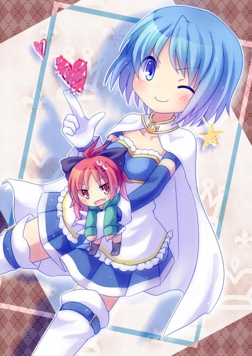 Tags: Anime, Minato0618, Mahou Shoujo Madoka☆Magica, Sakura Kyouko, Miki Sayaka