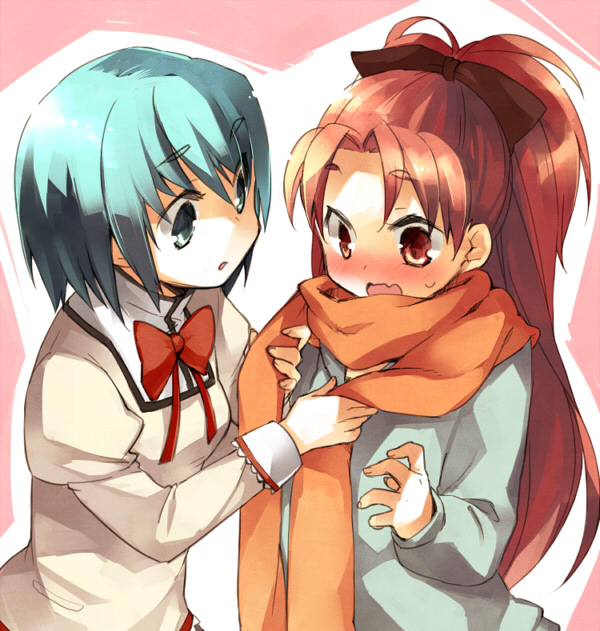 Tags: Anime, Akr Et, Mahou Shoujo Madoka☆Magica, Sakura Kyouko, Miki Sayaka, Pixiv, Fanart, Magical Girl Madoka Magica