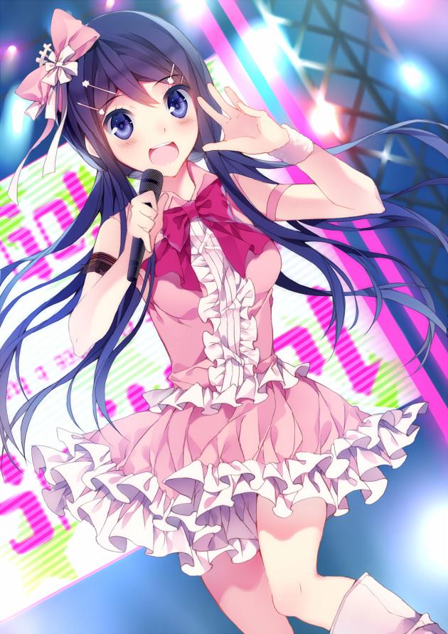 Tags: Anime, Kureaki (Exit.), Danganronpa, Maizono Sayaka, PNG Conversion, Mobile Wallpaper, Pixiv, Fanart, Fanart From Pixiv