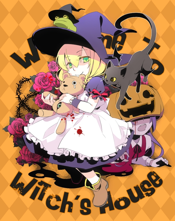 Tags: Anime, SERAPHLEI, Majo no Ie, The Black Cat (Majo no Ie), Viola (Majo no Ie), Ellen (Majo no Ie), Pixiv, Fanart, Fanart From Pixiv, The Witch's House