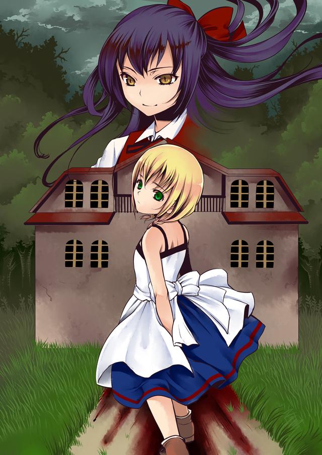 Tags: Anime, Like Nebel, Majo no Ie, Viola (Majo no Ie), Ellen (Majo no Ie), Pixiv, Fanart, Mobile Wallpaper, Fanart From Pixiv, The Witch's House