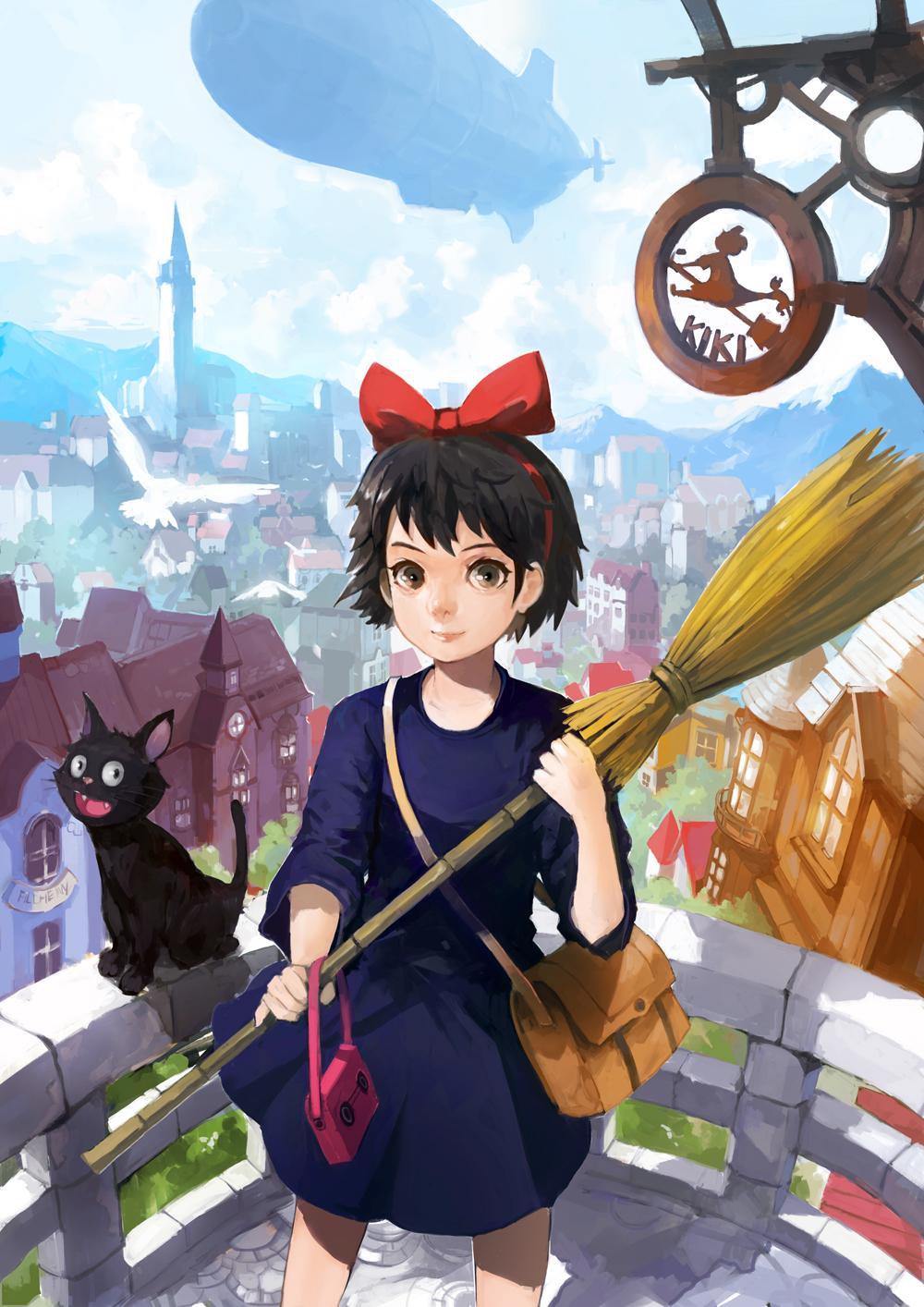 Majo No Takkyuubin Kiki S Delivery Service Mobile Wallpaper