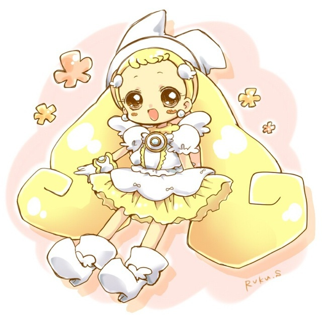 Tags: Anime, Ojamajo DoReMi, Witch Hat, Makihatayama Hana, Puffy Sleeves, Text: Mangaka Name, Pixiv Id 1349969