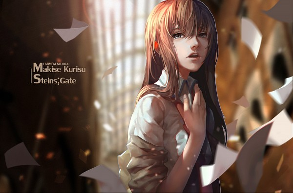 Tags: Anime, LighTofHeaveN, Steins;Gate, Makise Kurisu, Rolled Up Sleeves, Wind, Red Neckwear