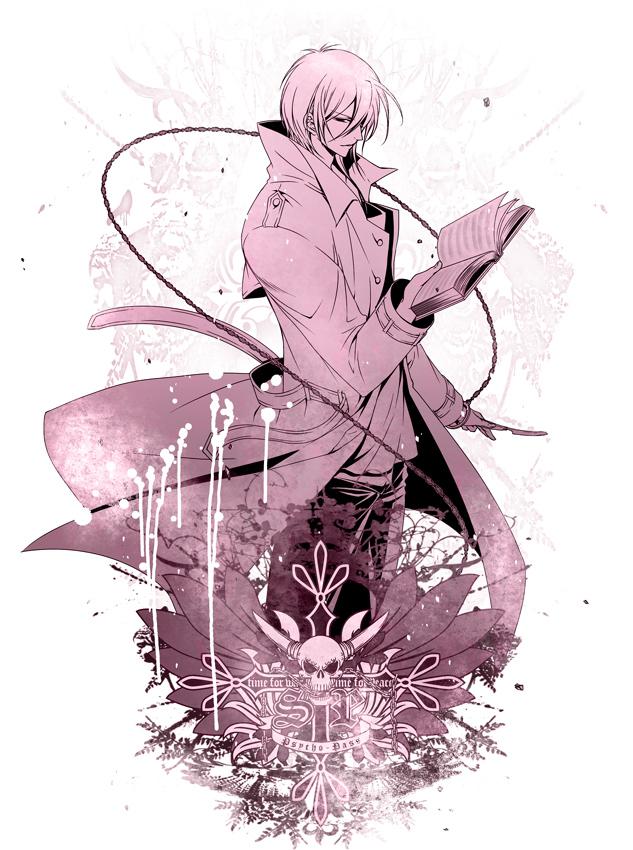 Tags: Anime, Kai Shizimi, PSYCHO-PASS, Makishima Shougo, Spellbook, Fanart From Pixiv, Pixiv, Fanart