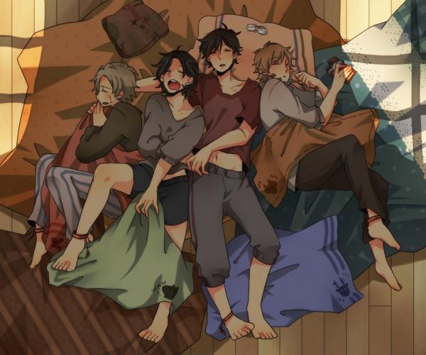 Tags: Anime, Pixiv Id 400897, Harry Potter, Remus Lupin, Sirius Black, Peter Pettigrew, James Potter