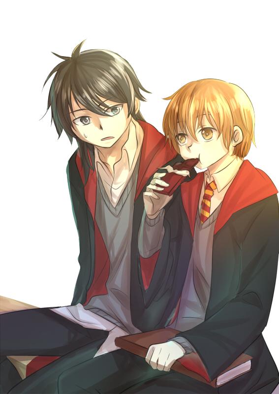 Tags: Anime, Rosa Tsubomi, Harry Potter, Sirius Black, Remus Lupin, Mobile Wallpaper, Gryffindor House, Marauders