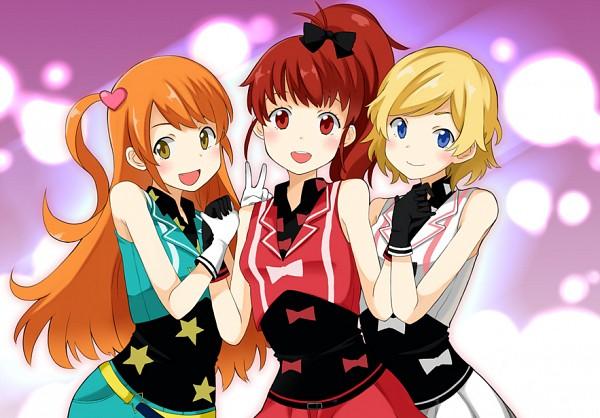 Tags: Anime, V Gesture, Nekomatagi, Pretty Rhythm: Aurora Dream, Takamine Mion, Harune Aira, Amamiya Rizumu