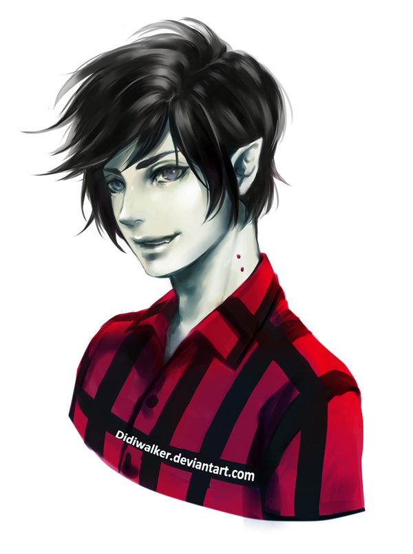 Tags: Anime, Didiwalker, Adventure Time, Marshall Lee the Vampire King, Bite Marks, Fanart From DeviantART, deviantART, Fanart