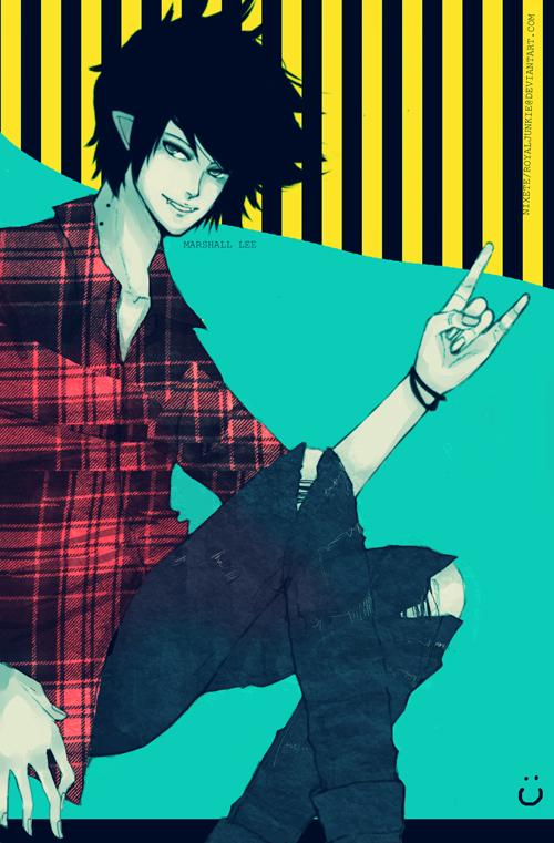 Tags: Anime, Nixete, Adventure Time, Marshall Lee the Vampire King, Bite Marks, Smiley Face, Mobile Wallpaper, deviantART, Fanart From DeviantART, Fanart