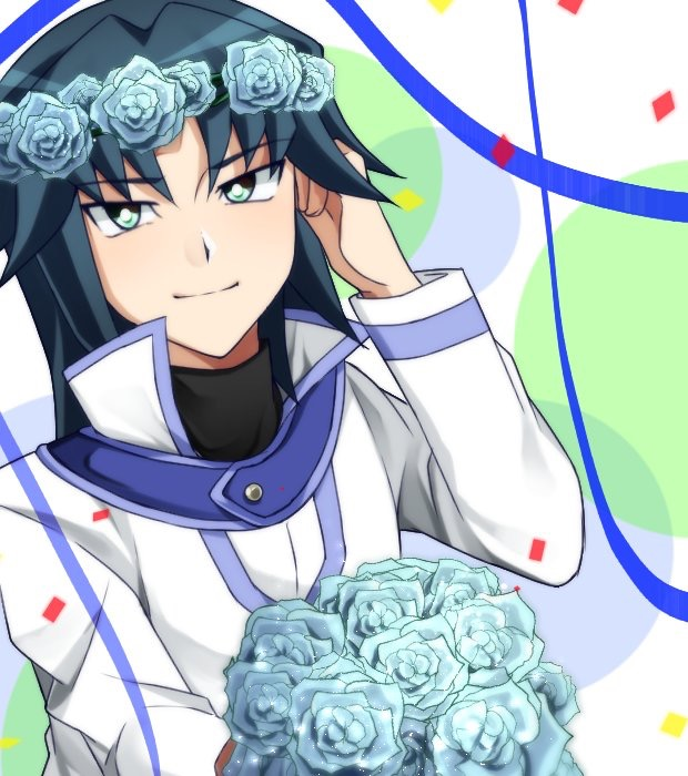 Tags: Anime, Pixiv Id 15596880, Yu-Gi-Oh! GX, Yu-Gi-Oh!, Marufuji Ryou, Teal Flower, Pixiv, Fanart From Pixiv, Fanart, Zane Truesdale