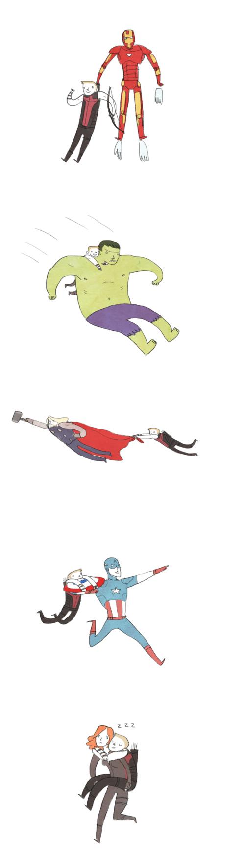Tags: Anime, Iron Man, The Avengers, Iron Man (Character), Hawkeye (Character), Black Widow, Captain America, Thor Odinson, Hulk, Marvel