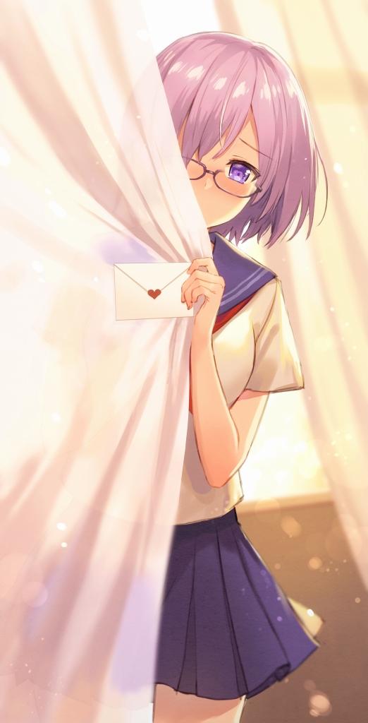 Tags: Anime, Haru (Hiyori-Kohal), Fate/Grand Order, Mash Kyrielight, Shielder (Fate/Grand Order), Love Letter, Hiding