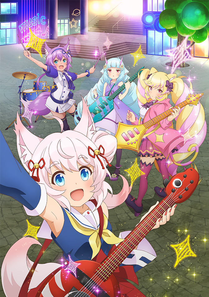 Tags: Anime, Itou Yasuyuki, Kinema Citrus, Show by Rock!! Mashumairesh!!, Mashimahimeko, Howan, Ruhuyu, Delmin, Key Visual, Cover Image, Official Art, Mashumairesh!!