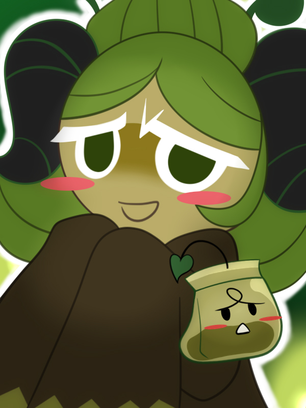 Tags: Anime, Pixiv Id 3673355, Cookie Run: OvenBreak, Cookie Run, Green Tea Bag, Matcha Cookie, Fanart, Fanart From Pixiv, Pixiv, Wallpaper