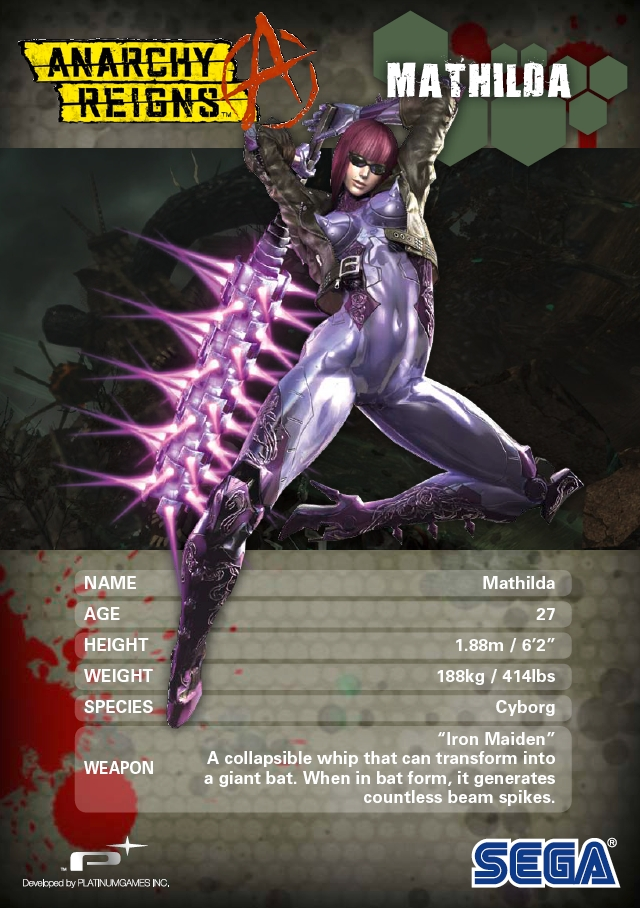 Tags: Anime, SEGA, Anarchy Reigns, Matilda (Anarchy Reigns), Character Sheet